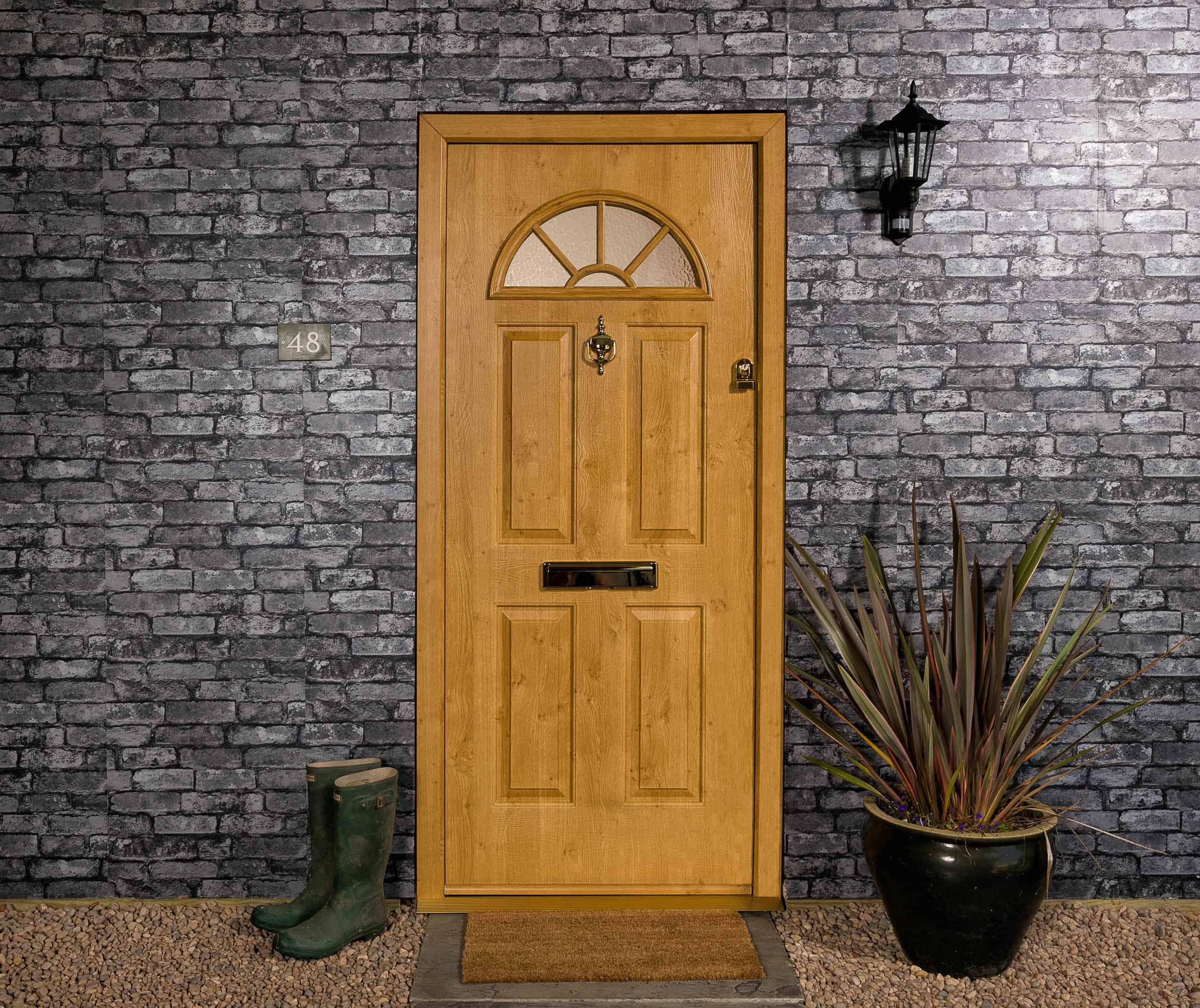 Composite Doors Cardiff & eiger-door-in-irish-oak - Inspire Windows