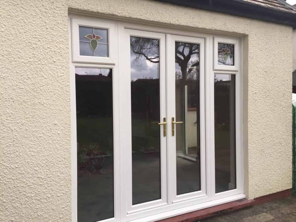 Upvc french doors cardiff french door prices newport for Double opening french patio doors