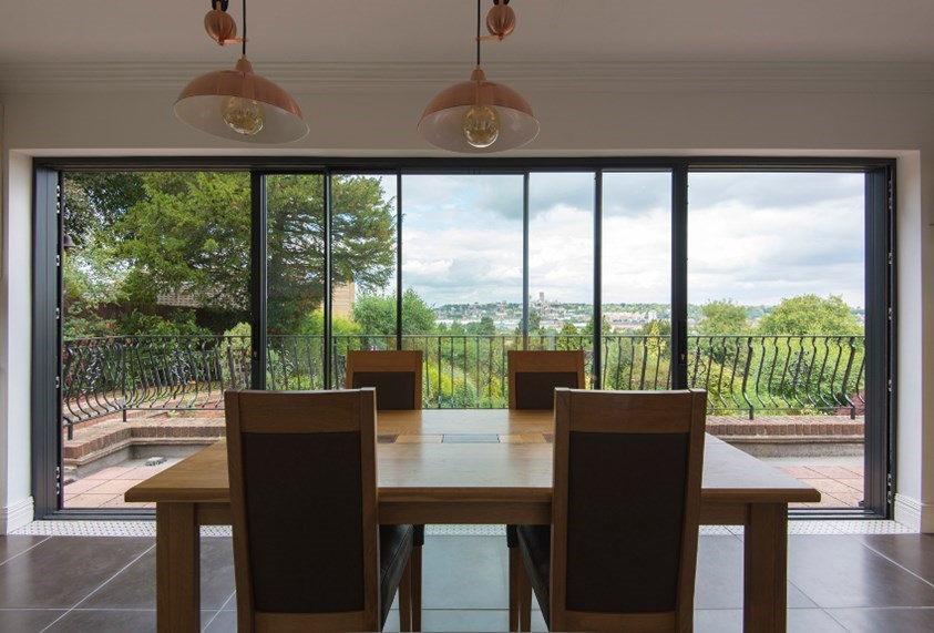 Origin aluminium sliding doors Llanishen